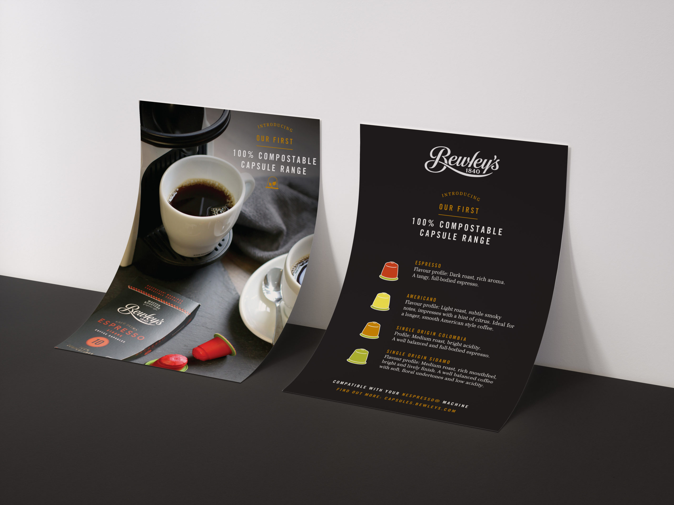 Compostable Coffee Capsule Brochure Graphic Design