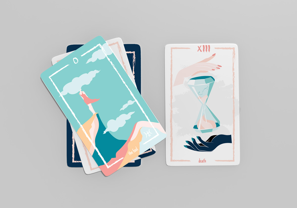 Modern Tarot Deck Illustration Graphic Design