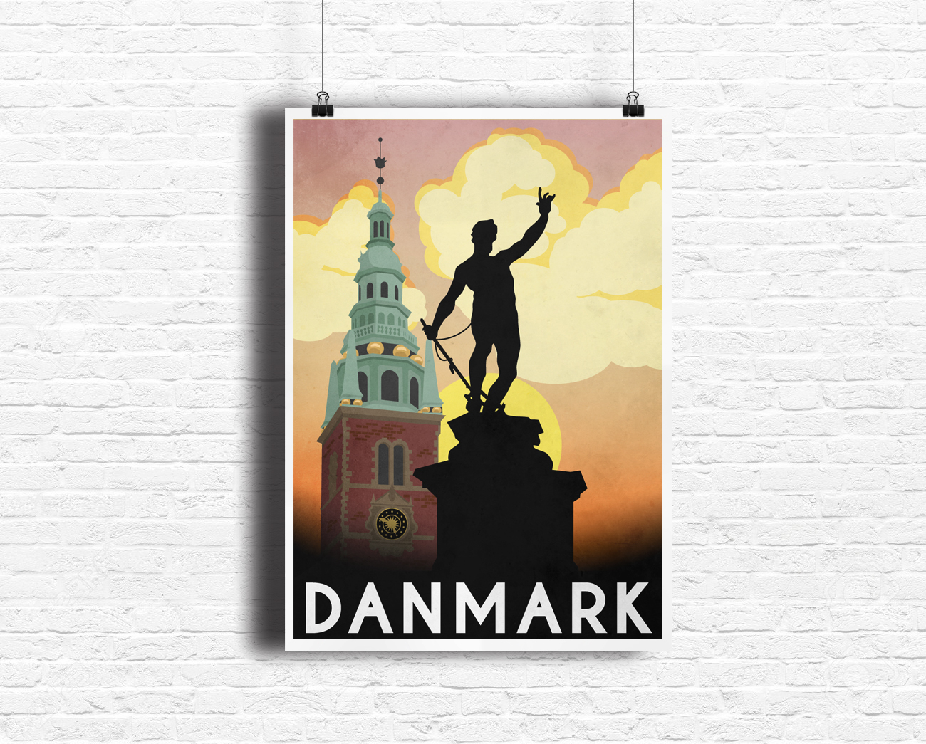 Denmark Travel Poster Design